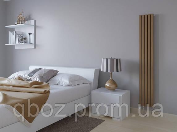 Стальные дизайнерские Радиаторы LINX высота - 1600 мм LINX-4-1600, белый, боковое, фото 2