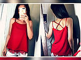 Модная женская шелковая блуза с кружевом,размеры:42-44,46-48., фото 4