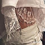 Модная женская шелковая блуза с кружевом,размеры:42-44,46-48., фото 6