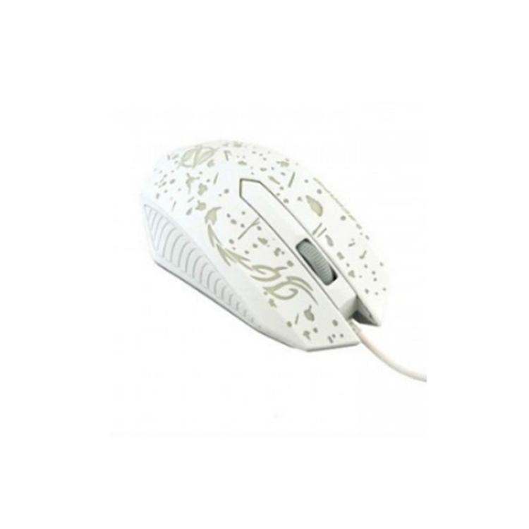 Мышка компьютерная игровая проводная Ripper XG68 с подсветкой Белая USB мышка