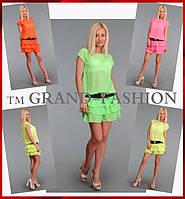 Летнее Платье ~Frill-Шифон~ 4 цвета в наличии !!!