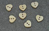 Деревянная пуговица. сердце  12*11 мм