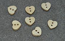 Дерев'яна ґудзик. серце 12*11 мм