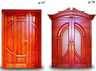 Двери входные из массива дуба