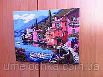 Готовая картина по номерам на холсте Menglei Итальянская набережная 40х50см КодMG103