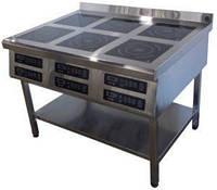 Плита індукційна на 6 комфорок (2.8 кВт)