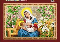 """Схема для вышивки бисером на подрамнике (холст) икона """"Богородица Млекопитательница"""""""