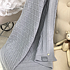 Хлопковый вязаный плед Ромб (серый) летний
