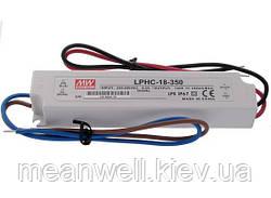 LPHC-18-350 Блок питания Mean Well  Драйвер для светодиодов (LED) 16.8 Вт, 48 В, 0.35 А