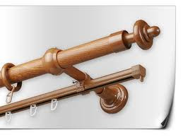Карниз труба+шина дуб золотой 2,4 м
