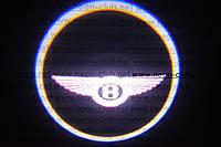 Подсветка дверей авто / лазерная проeкция логотипа Bentley | Бентли