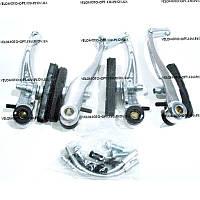 Тормоз V-brake задний+передний в сборе серебро Китай