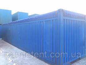 Тент на контейнер 20,40 футов с открытым верхом из ткани ПВХ, фото 3