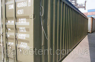 Тент на контейнер 20,40 футов с открытым верхом из ткани ПВХ, фото 2