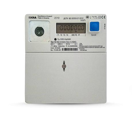 Электросчетчик Iskra ME162-D1A44-V12L11-M3K0 5(85)А однофазный многотарифный, фото 2