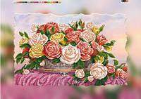 """Схема для вышивки бисером на подрамнике (холст) """"Букет роз"""""""