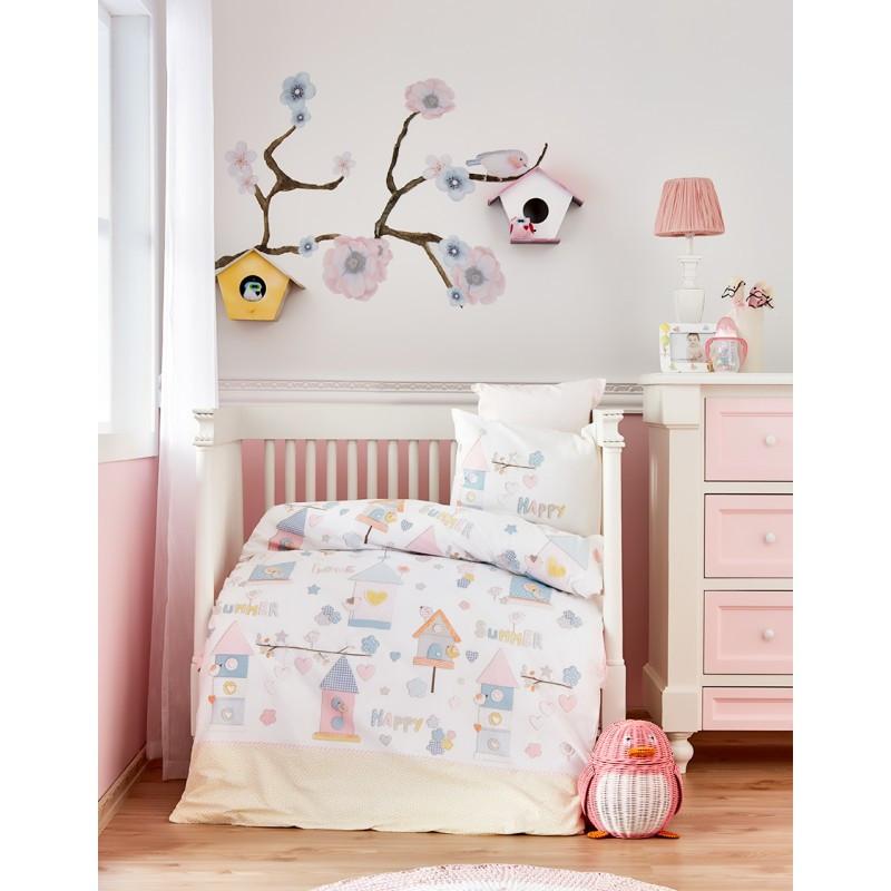 Детский набор в кроватку для младенцев Karaca Home - Happy 2019-2 (10 предметов)