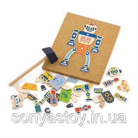 """Игра с молоточком """"Робот"""" для развития координации, 3+"""