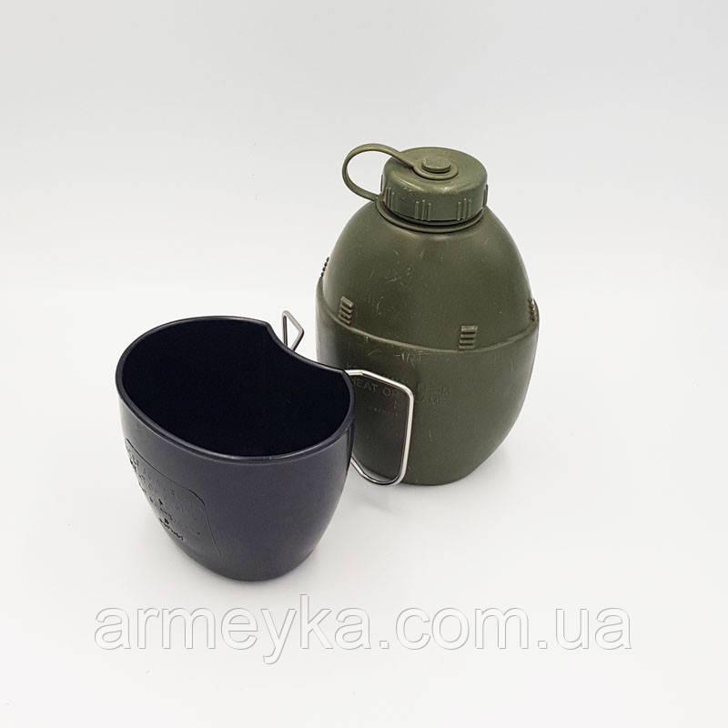 Фляга M58 (1L) з кухлем, олива. Великобританія, оригінал.