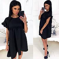 Женское платье свободного кроя (6 цветов) - Черный АА/- 1260, фото 1