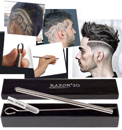Бритва-ручка Razor 3D (Разор 3Д) для моделирования мужских причесок