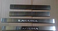 Хром накладки на пороги для Renault Laguna 2, Рено Лагуна 2 2001-2007 г.в.