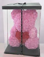 Игрушка мишка из нежнейших фоамирановых 3D роз, фото 1