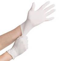 Перчатки латексные нестерильные опудренные (размеры L)