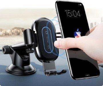 Уникальный автомобильный держатель для смартфона с беспроводной зарядкой