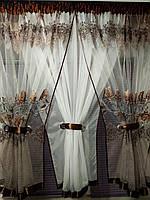 """Занавеска на маленькое окно с красивым принтом """"Королевская роза"""", фото 1"""
