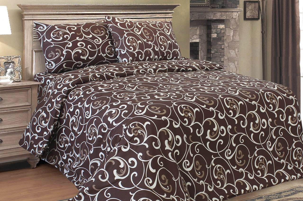"""Комплект постельного белья ТМ """"Ловец снов"""", Ненавязчивый завиток шоколадный"""