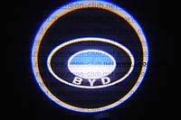 Подсветка дверей авто / лазерная проeкция логотипа BYD   БИД