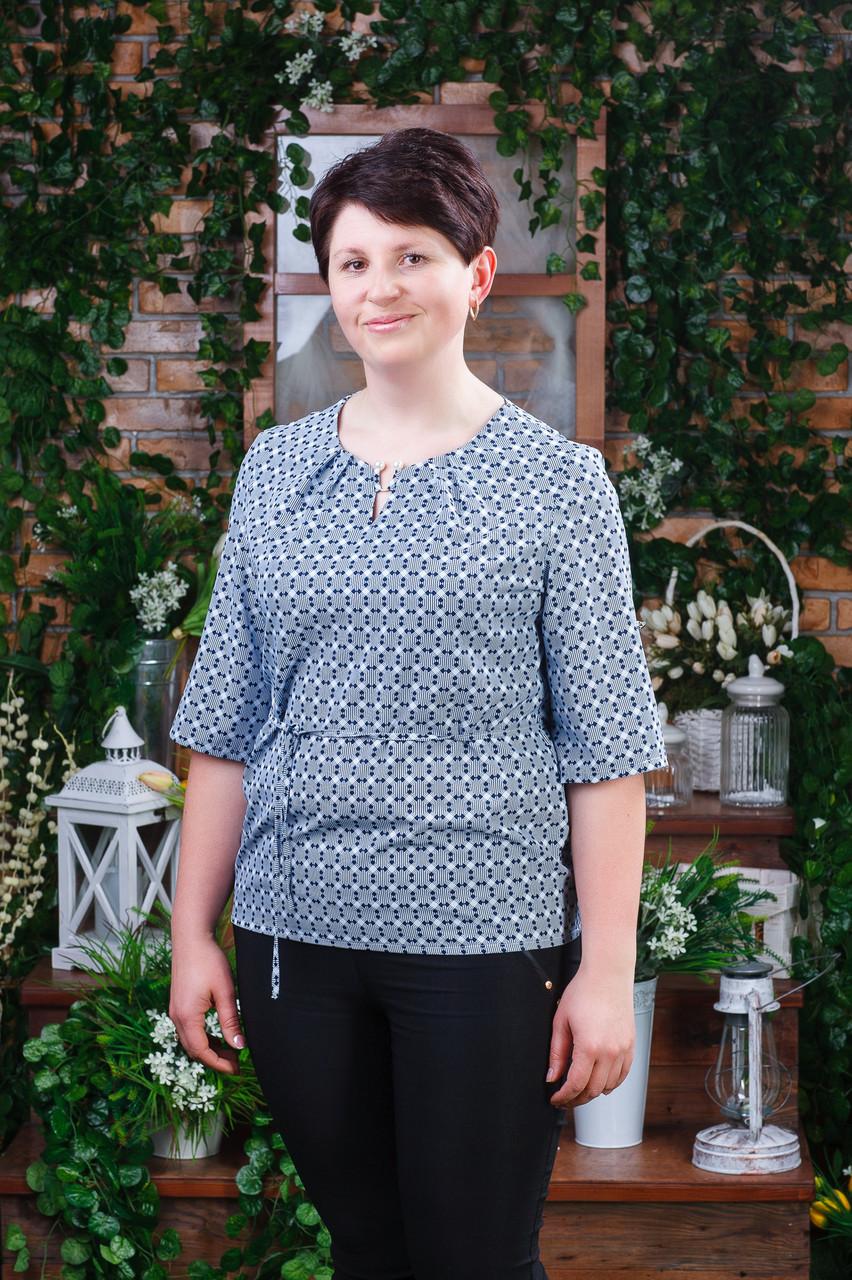 Женская блуза синяя Бл-6042