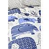 Постельное белье Karaca Home - Ruben mavi 2019-2 голубой ранфорс подростковое, фото 2