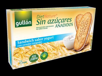 Печенье без сахара Gullon йогуртовый утренний сэндвич-печенье 220г /5шт/ из Венгрии