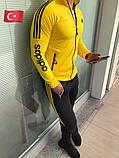 Желтый мужской спортивный костюм с капюшоном, фото 3