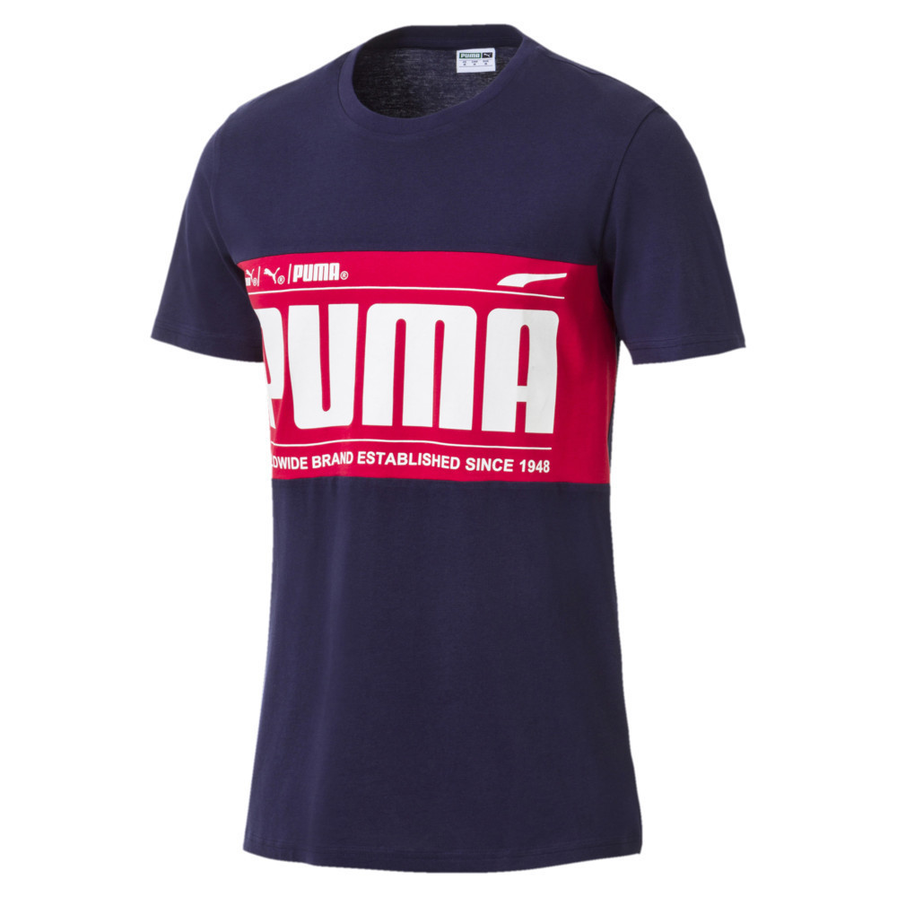 Мужская спортивная футболка Graphic Logo Block Tee