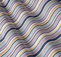 Уличная ткань в тонкую полоску сине-сиреневая. Дралон. Испания LD 83415 v1