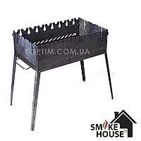 Раскладной мангал чемодан на 8 шампуров из черного металла, фото 1