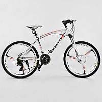"""Велосипед Спортивный CORSO EVOLUTION 26""""дюймов JYT 007 - 9070 WHITE (1) рама алюминиевая 17``, 24 скорости"""
