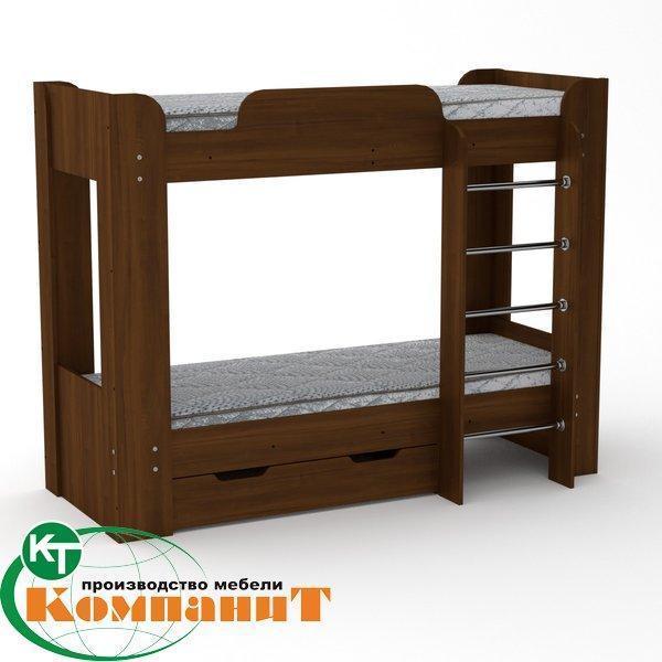 Кровать двухярусная Твикс 2 орех