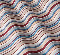 Уличная ткань в тонкую полоску голубая красная. Дралон. Испания LD 83416 v2
