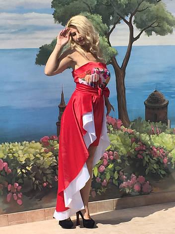 Вечернее платье со съемной юбкой 3058