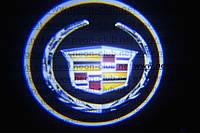 Подсветка дверей авто / лазерная проeкция логотипа Cadillac   Кадиллак