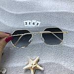 Стильные солнцезащитные очки с черными линзами, фото 5