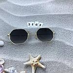 Стильные солнцезащитные очки с черными линзами, фото 4