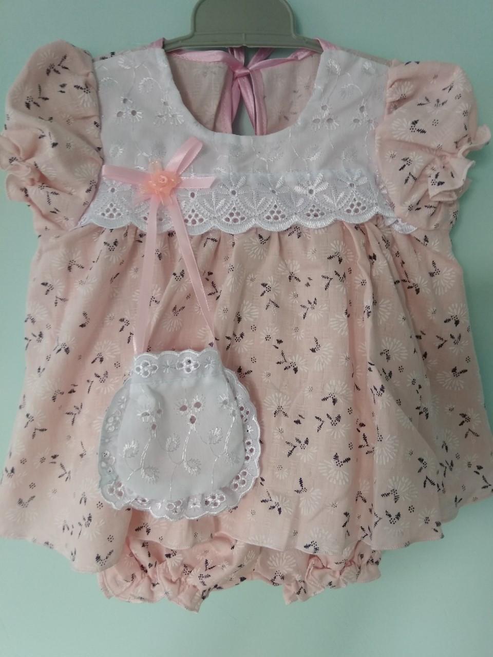 Платье для девочек розовое хлопок 6-9 месяцев