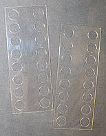 Органайзер акриловый для мулине прозрачный, 16 мест. Размер общий 115*45 мм, толщина - 0,7мм