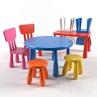 Ikea Mammut Комплект детский стол, стулья, табурет В наличии