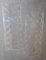 Органайзер акриловый для мулине прозрачный, 16 мест. Размер общий 115*45 мм, толщина - 0,5мм